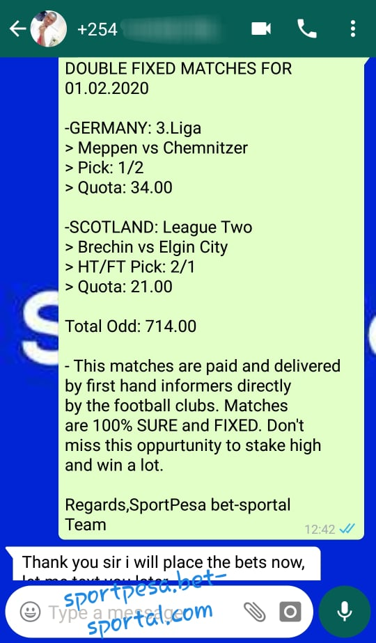 Soccer Fixed Matches Today